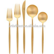 silverware sets gold. Unique Gold Vintage Gold Silverware Set Children Stainless Steel Satin Mirror  Polishing Cutlery On Silverware Sets Gold 0