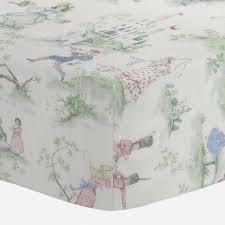 39 00 nursery rhyme toile crib sheet