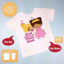 American Princess Size Chart Fourth Birthday Shirt African American Princess Birthday Shirt