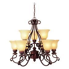portfolio 9 light bronze chandelier