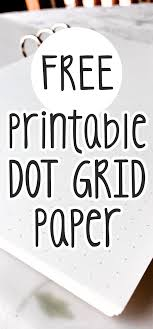 Free Printable Dot Grid Paper Dot Grid Printable Pdf For Bullet Journal Diy Or Planner Inserts