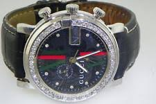 men s diamond gucci watches gucci 101m mens chrono black dial diamond watch