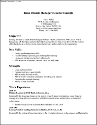 Bank Manager Sample Resume Cv For Bank Job Cv Format Banking Finance Resume Sample 22