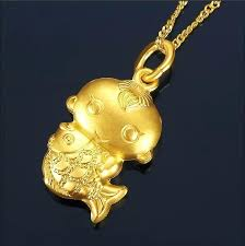 baby gold pendant the little boy arms goldfish pendants jewelry for singapore baby gold pendant