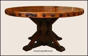 fabulous copper top dining table round wood table top round copper top dining table copper table