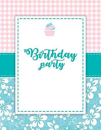 Party Invitation Background Image Pink Small Fresh Birthday Invitation Background Material Pink