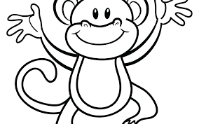 Printable Monkey Children Coloring Pages Printable Monkey Free