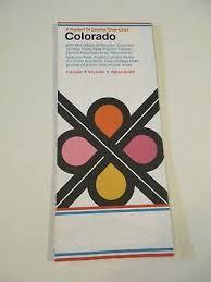 Colorado Mileage Chart Vintage Map Mobilgas Road Map Of Colorado 1947 Highway