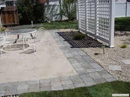 pavers for patio concrete patio
