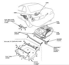 1996 honda accord a procedure to replace a fuel sending unit graphic fuel pump