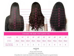 Hair Length Chart Bundles 1 3 Bundle Brazilian Ombre 1b 99j Straight Hair 3 Bundles