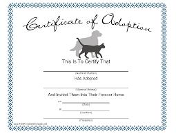 Pet Adoption Certificate Template Dog Adoption Certificate Template Pdfsimpli