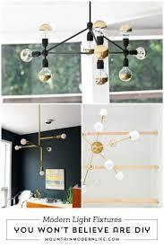 diy modern lighting. DIY Mid-Century Modern Light Fixtures Diy Lighting T