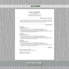 Simple Resume Template ATS Approved Simple Resume Template RushResume 30