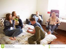 - In Teenagers Drinking Stock Image 37634975 Horizontal Group Female Of Bedroom Alcohol