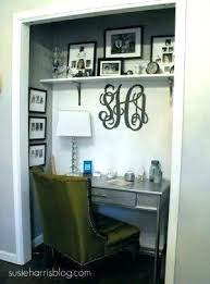 closet into office. Small Closet Vanity Office Turn Into Unused Turned Or Area In S