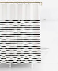 white and black shower curtain. Cool Kate Spade New York Harbour Stripe Shower Curtain Black And White Striped E