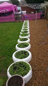 Tyre planter edging  Bahe #Garden ...