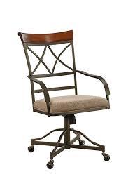 amazon powell hamilton swivel tilt dining chair on casters chairs