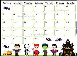 Cute Calendar Template Inspiration Calendar October 44 Halloween Planner Printable Cute Etsy