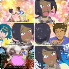 animedcmfan2020 Instagram post (carousel) 😅😍 Brock & Olivia (Takeshi and  Lychee) So many likes for the previous post for them close to 500 likes!  (ep.103 of the Pokémon Sun and Moon anime)😳🤗...