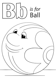 Letter B Is For Ball Coloring Page Free Printable Coloring Pages