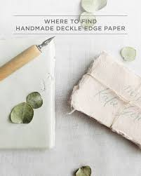 how to make girly things out of paper where to find handmade deckle edge paper