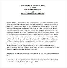 13 Memorandum Of Agreement Templates Word Pdf Free
