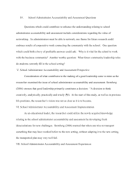 standard essay 3 iv school administrator accountability
