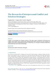 definition of interpersonal skills the research of interpersonal conflict pdf download available