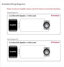 2ohm dvc 2 ohm load wiring quick start guide of wiring diagram • wiring mono amp to dvc 2 ohm sub tacoma world rh tacomaworld com 2ohm dvc 2 ohm load wiring single 2 ohm dvc wiring