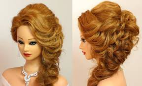 Prom Hairstyle For Medium Long Hair Tutorial Youtube
