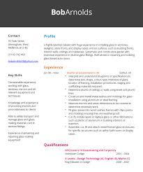 Glazier Resume Example Hashtag Cv