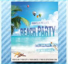 Beach Flyer Beach Party Flyer Party Flyer Templates For Clubs Business Marketing