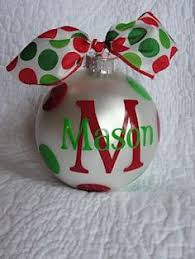 Vinyl Ornament personalized for all on your christmas list! Let us help you  make these
