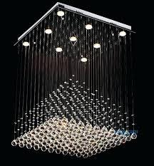 crystal chandelier lighting modern clear square crystal chandelier pyramid rain drop lamp flush mount lighting led