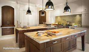 Open Kitchen Design With Double Island.