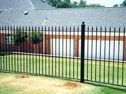 Black Metal Fence Gate And Metal Driveway Gates Black Iron Fence