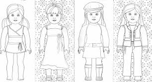 Small Picture American Girl Doll Coloring Pages To Print Free Printable 4019