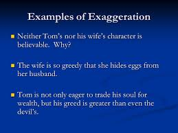 satire in ldquo the devil and tom walker rdquo ppt video online 4 examples of exaggeration
