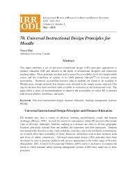 Pearson Learning Design Principles Pdf Universal Instructional Design Principles For Moodle