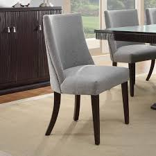 grey upholstered dining chairs with nailheads