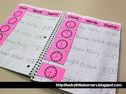Telling Time Anchor Chart Bright Math Ideas Blog Hop Lucky Little Learners
