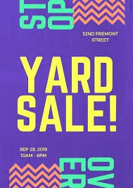 Garage Sale Flyers Free Templates Free Book Sale Flyer Template Purple Modern Bold Yard Sale Flyer