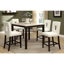 savona 5 piece cream rich brown counter height dining set
