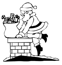Disegno Di Babbo Natale Nel Camino Da Colorare Per Bambini