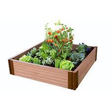 classic sienna composite raised garden bed kit