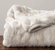 white faux fur throw. Simple Faux Faux Fur Ruched Throws Inside White Throw L