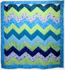 baby quilt | Rabbit Style News | Page 2 & blue and green zigzag baby quilt Adamdwight.com