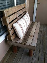pallet bench with pillow pallet wood bench